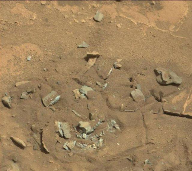 Des roches qui ressemblent à des os
