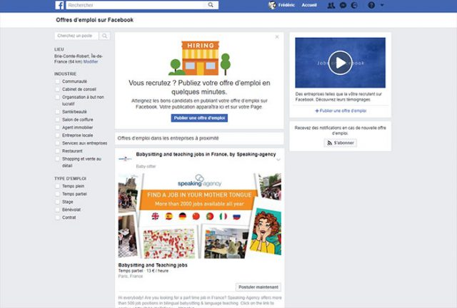 Offres d'emploi Facebook : image 2