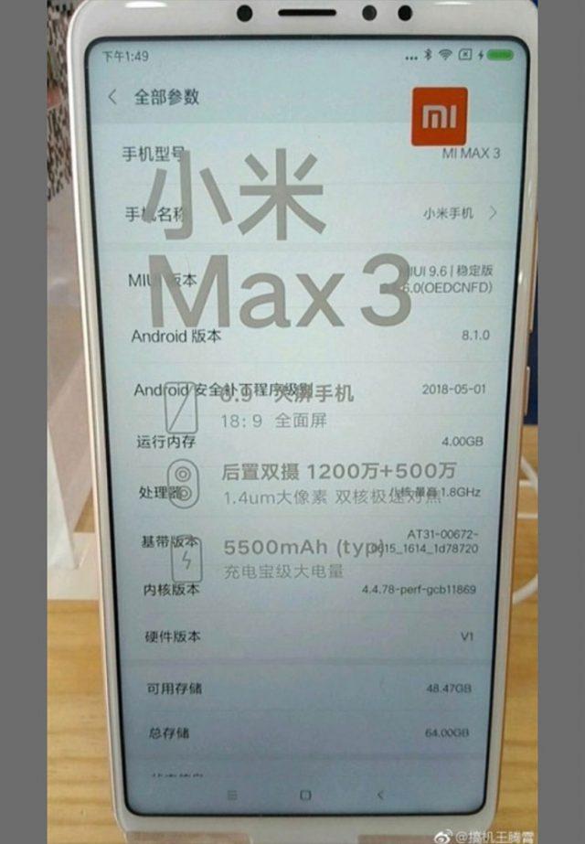 Xiaomi Mi Max 3 : image 3