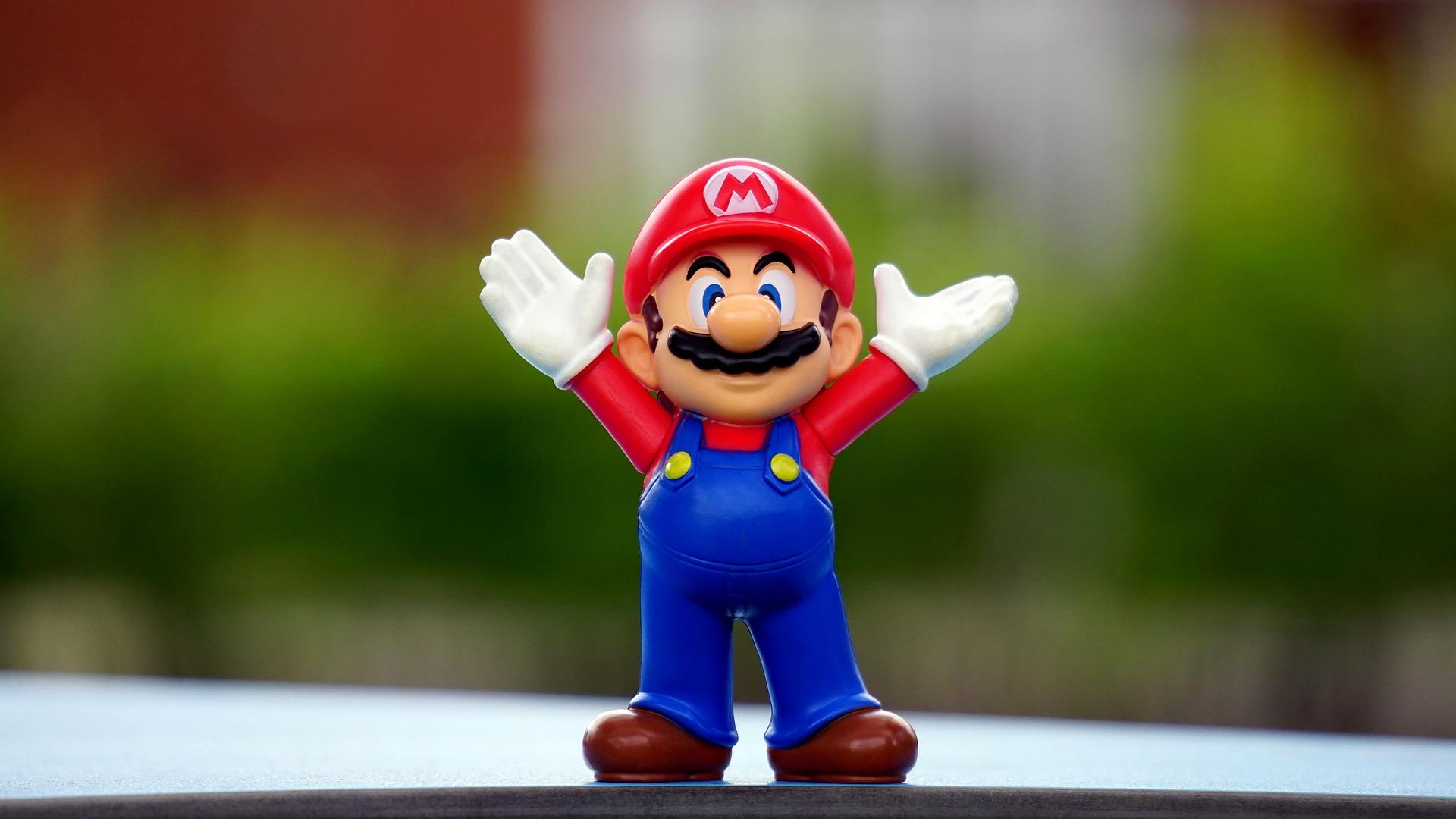 Une figurine de Mario