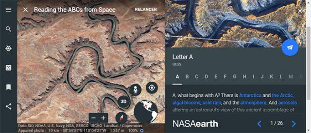 Lire l'alphabet depuis l'espace