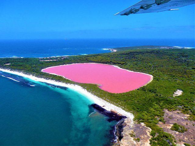 Le lac Hillier, en Australie occidentale
