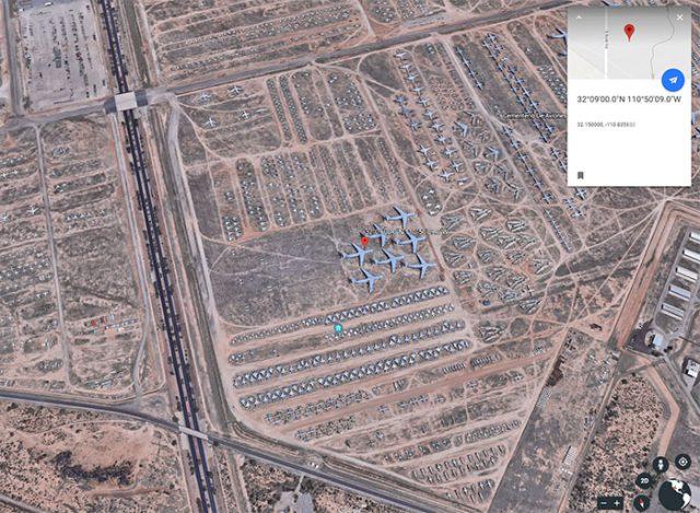 Le cimetière d'avions d'Arizona