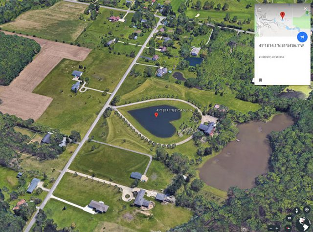 Le lac en forme de cœur