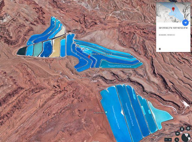 Les bassins de potasse de Moab