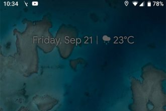 Interface Pixel 3 XL
