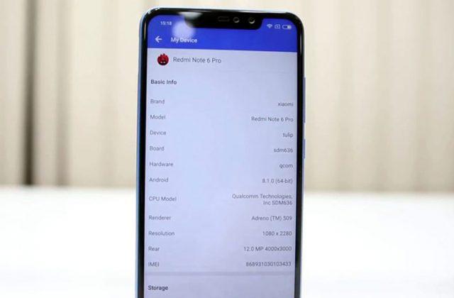 Xiaomi Redmi Note 6 : image 1