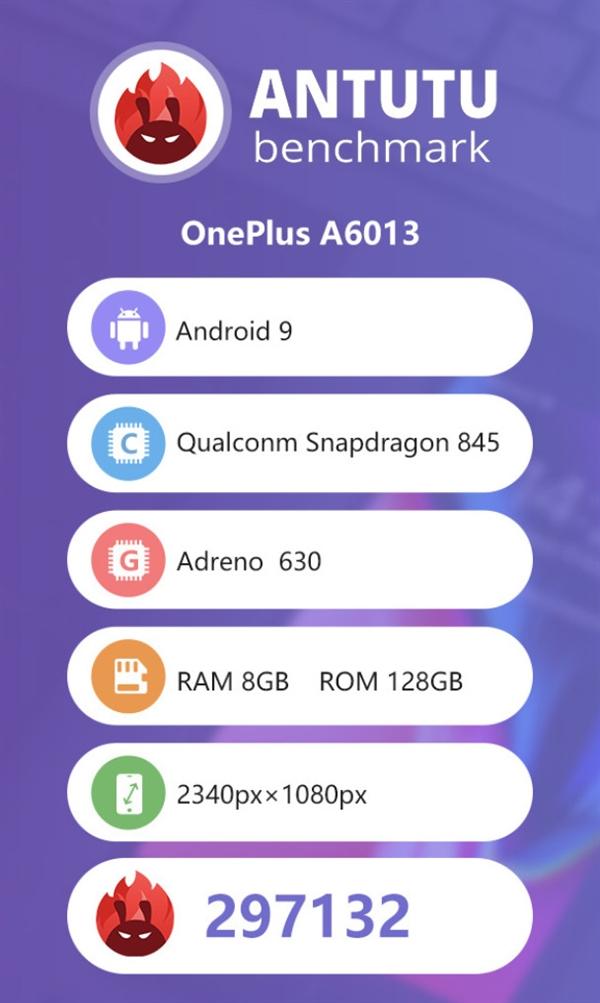 Bench onePlus 6T