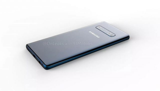 Galaxy S10 Plus : rendu 1