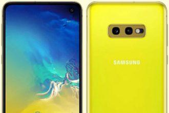 Galaxy S10 E jaune : image 1