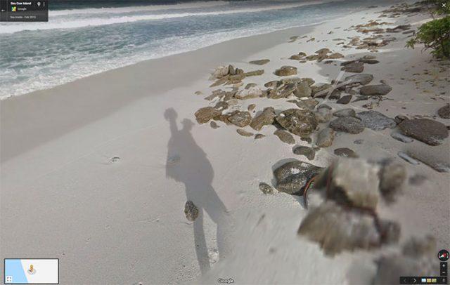 Google Maps île déserte