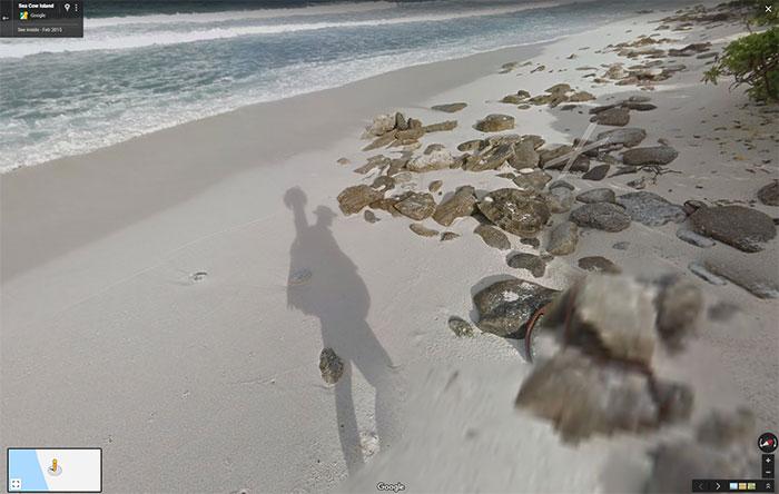 Sur Google Maps, il est possible de visiter une île déserte