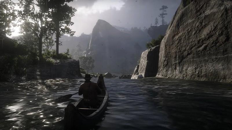 Red Dead Redemption 2 : il suffit d'un canoë pour s'échapper du monde