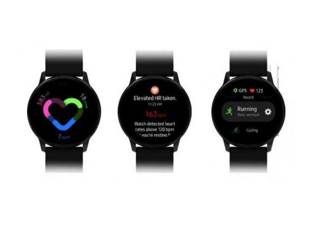 Interface Galaxy Watch Active