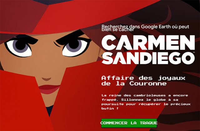 Carmen Sandiego Google Earth