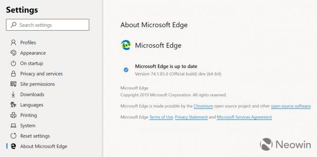 Microsoft Edge Chromium : image 3