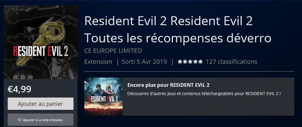 Pour 4,99 euros, faites (presque) semblant d'avoir terminé le remake de Resident Evil 2