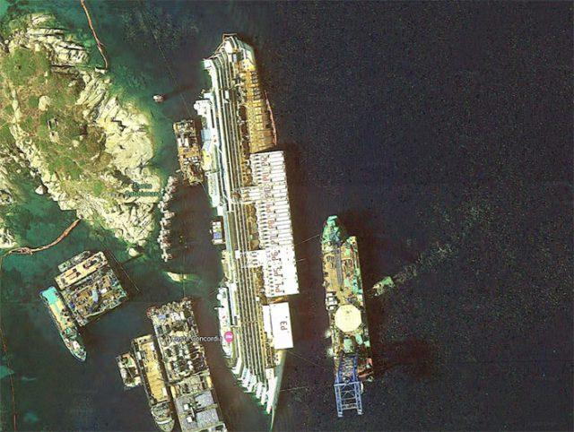 L'épave du Costa Concordia