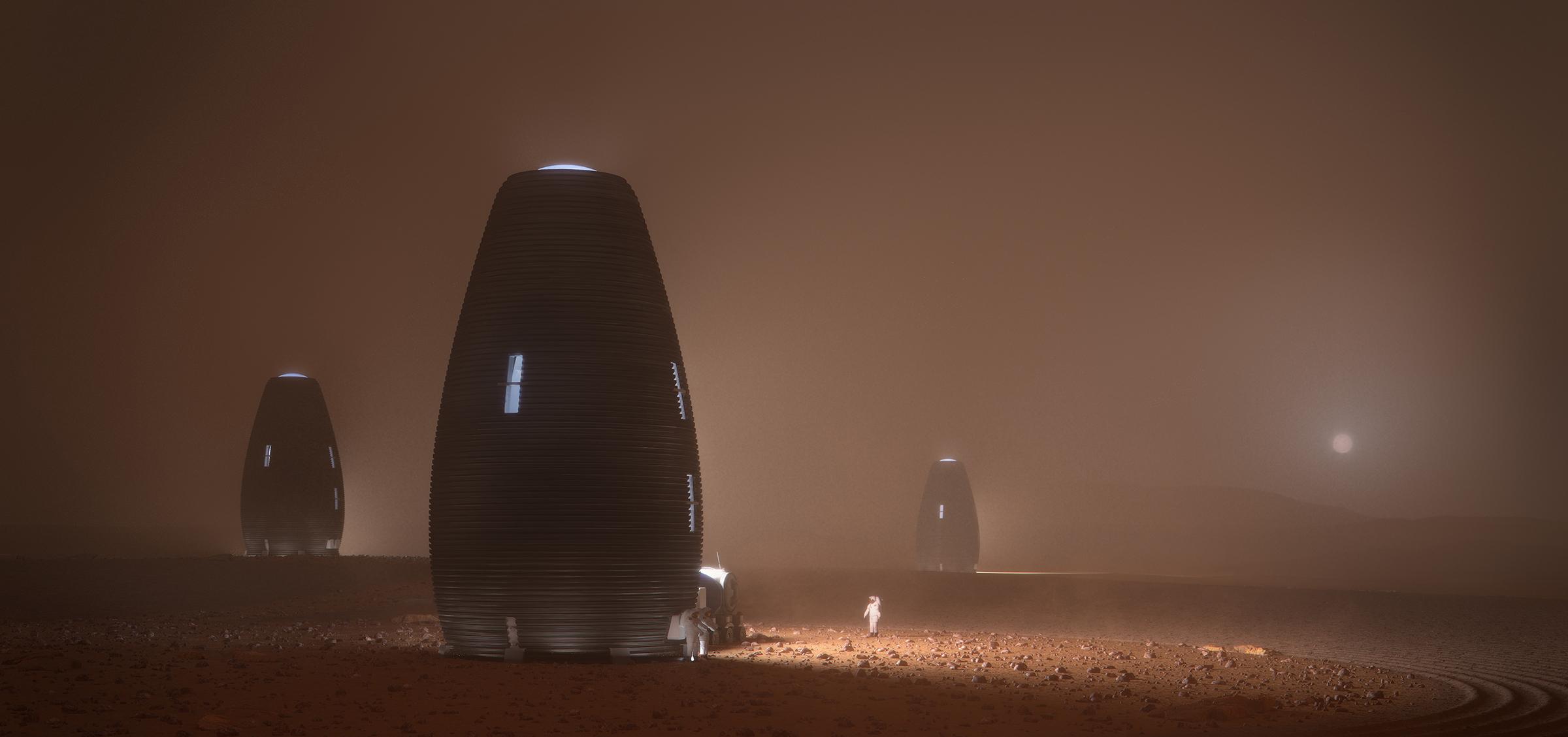 AI Space Factory a finalement remporté le Challenge de la NASA face aux termitières martiennes