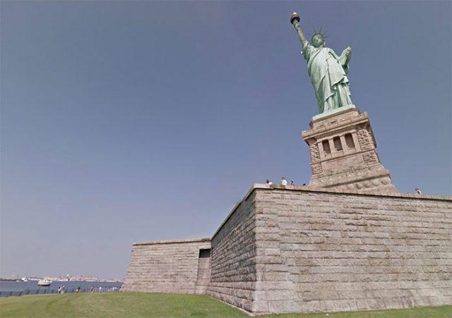 Statue Liberté Google Street View