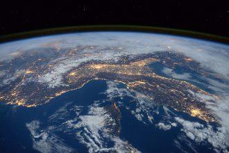 La Terre vu de l'espace.