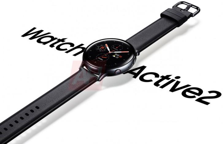 Le Galaxy Watch Active 2 montre un peu ses rondeurs