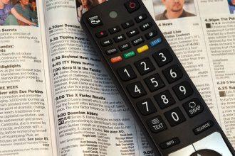 La télécommande d'un téléviseur