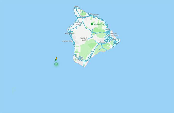 Sur Google Maps, il se passe un drôle de truc quand vous utilisez Pegman à Hawaï