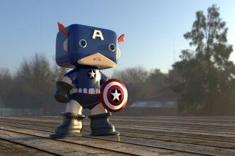 Captain America en version pop
