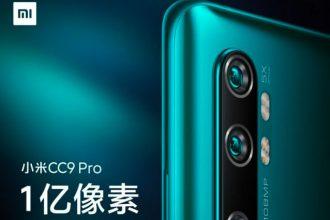 Le Xiaomi CC9 Pro se précise
