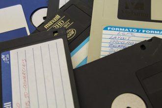 Un tas de disquettes