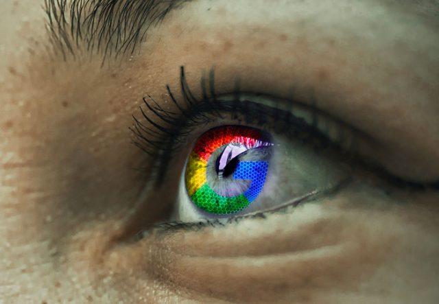 Le logo de Google dans un oeil