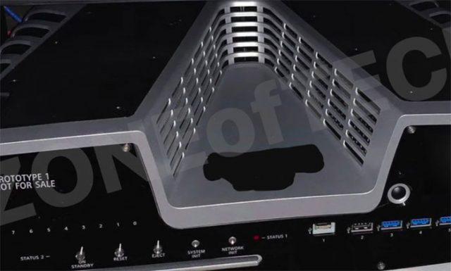 Une photo du kit de développement de la PlayStation 5