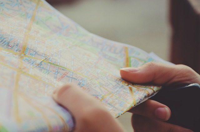 Une carte routière