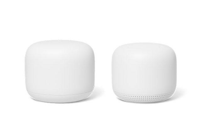 Le Nest WiFi, ou plutôt ses deux boîtiers.