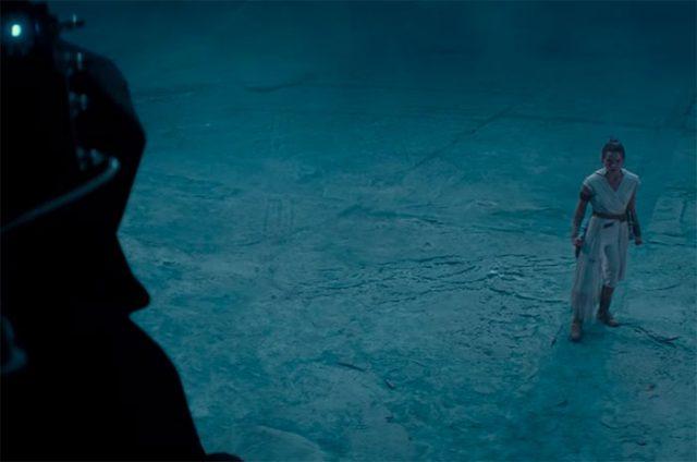 Rey face à Palpatine dans Star Wars The Rise of Skywalker