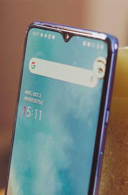 L'encoche du OnePlus 7T