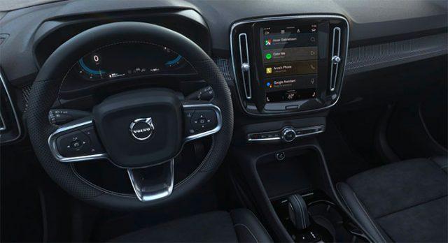 L'intérieur du XC40 Recharge de Volvo