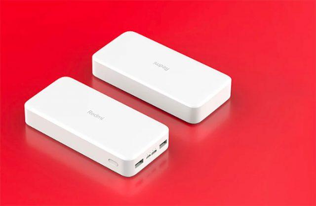 La Xiaomi Redmi Powerbank 20000 ne manque pas de ports
