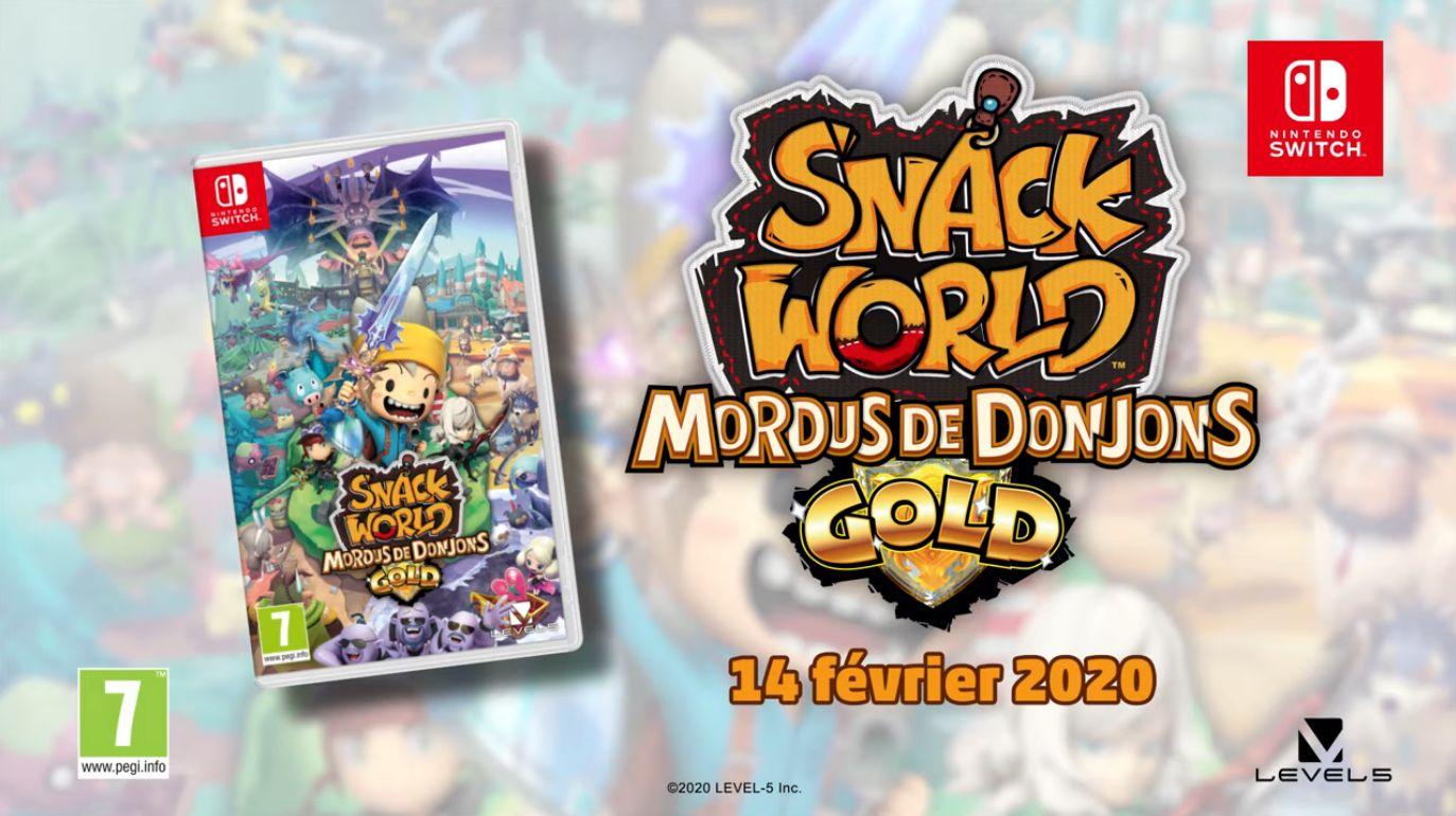 Snack World, dernière licence de Level-5 sur 3DS, débarque le 14 février en Occident sur Switch