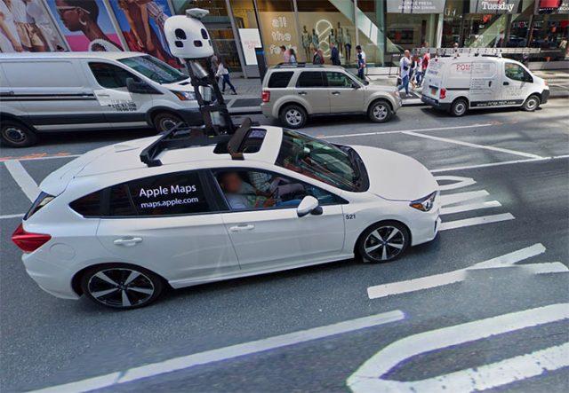 Une Apple Car dans Google Street View