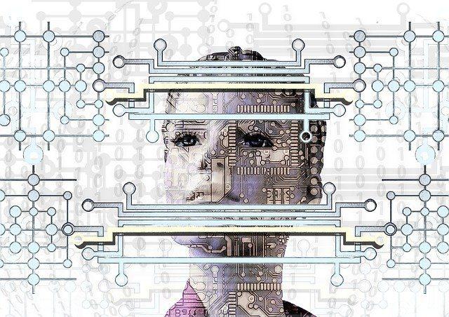 Un visage de robot