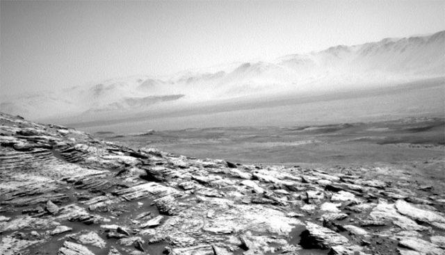 Le cratère Gale de Mars vu par Curiosity