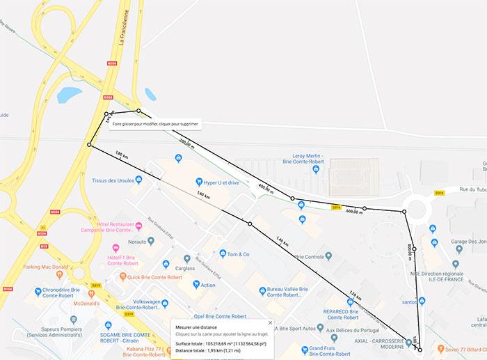 Voici comment calculer des distances et des aires avec Google Maps