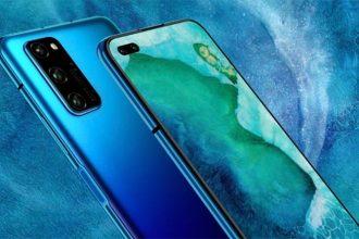 Le Honor V30 en bleu