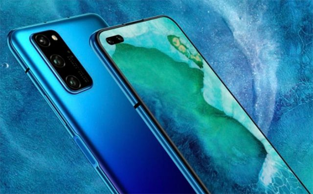 Le Honor V30 en bleu