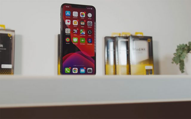 L'iPhone 11 Pro Max vu de face