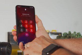 L'écran de verrouillage de l'iPhone 11 Pro Max