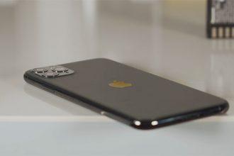 Le dos dépoli de l'iPhone 11 Pro Max