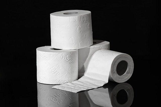 Trois rouleaux de papier toilette